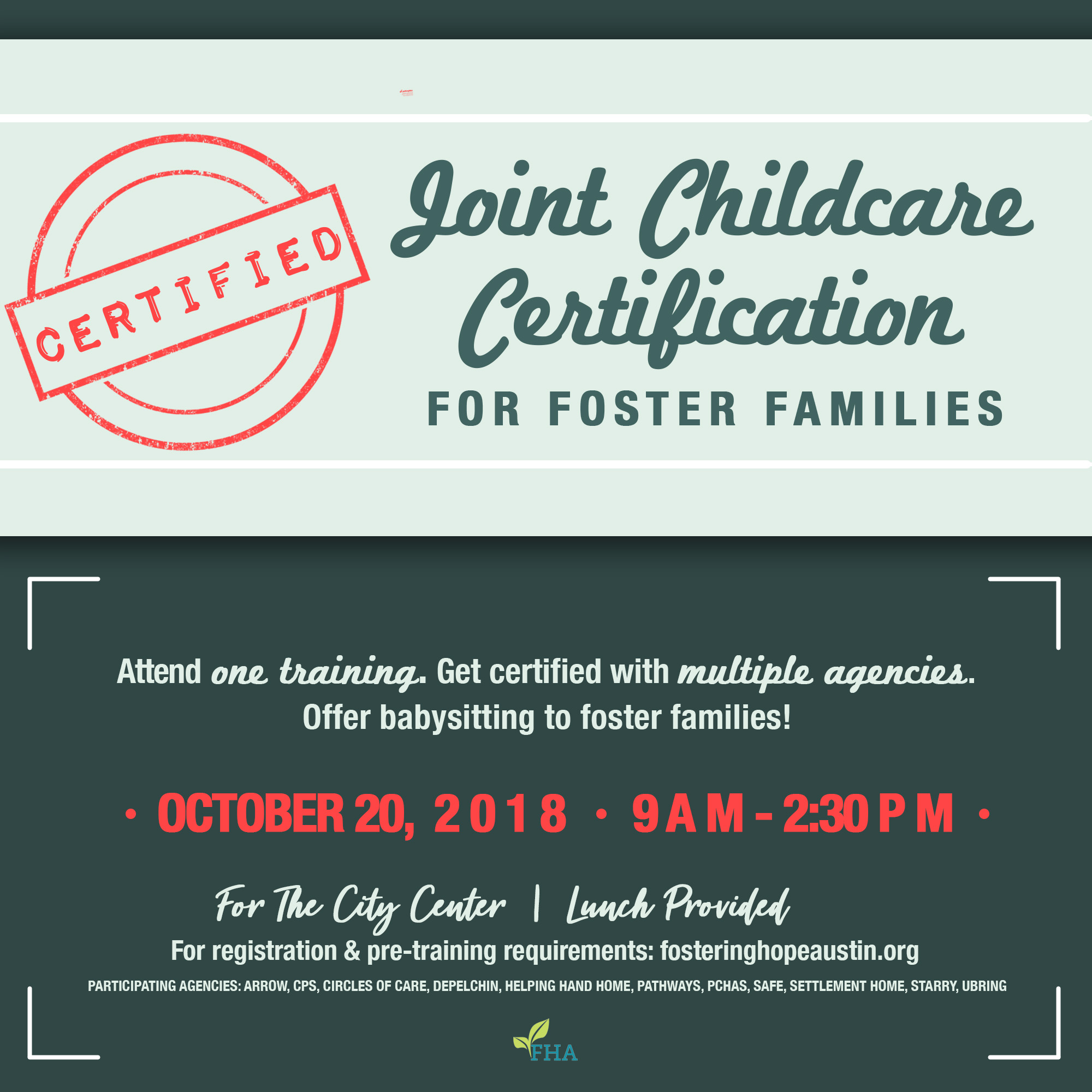 Foster Care Babysitting Certification Fostering Hope Austin