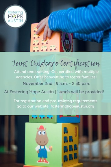 Foster Care Babysitting Certification - Fostering Hope Austin